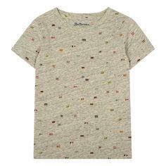 Bellerose Vigo81 Flag T-Shirt Heather grey