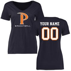 Pepperdine Waves Women's Personalized Basketball Slim Fit T-Shirt - Navy