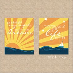 Billy Joel Lyric Print nautical nursery print // by PaperRamma