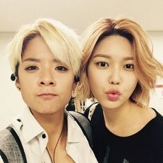 Wow! My two bias together? Not used to this. Cute!