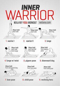 Inner warrior yoga workout