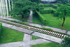 Zhongshan Shipyard Park, crossing ways  - Guangdong, Cina