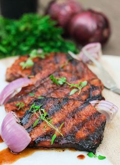 Southern Glazed Pork Chops: Quickly marinate and kiss on the grill for a juicy gluten-free meal in minutes with the sweetness of brown sugar & spice of cayenne.