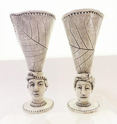 Julie Sewell Face Goblet :: River Gallery