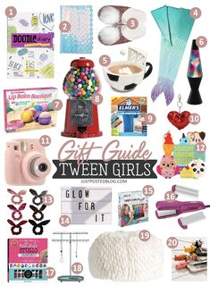 Gift Guide for Tween Girls 20 Items Perfect for a Holiday Christmas Gift for Tweens Gift Guide for Tween Girls 20 Items Perfect for a Holiday Christmas Gift for Tweens Hermine Star Hermine Star Gift Guide hellip Trending Christmas Gifts, Christmas Gifts For Girls, Christmas Birthday, Holiday Gifts, Christmas Holidays, Christmas List Ideas, Inexpensive Christmas Gifts, Fun Gifts, Teenage Girl Gifts