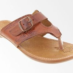 272105cf4be4 Handmade Genuine Leather Sandals for Women - Brown Thong Flip Flops with  Buckle