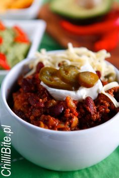 pl - motywuje do gotowania! Chili, Soup, Cooking Recipes, Dinner, Food Ideas, Recipe, Food And Drinks, Dining, Chile