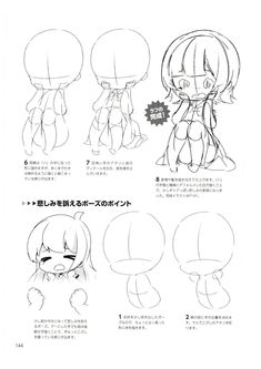 How to draw chibis-144 Chibi Tutorial, Manga Tutorial, Chibi Girl Drawings, Cartoon Drawings, Chibi Drawing, Chibi Sketch, Anime Sketch, Anime Drawing Books, Chibi Body