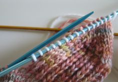 Today I have something to show to my fellow sock knitters - it's a little trick I do and that I teach in my sock class, so nothing special, unless you had to deal with those pesky holes b. Knitting Help, Loom Knitting, Knitting Socks, Knitting Stitches, Hand Knitting, Knitting Patterns, Knitting Tutorials, Knitting Projects, Knitting Ideas