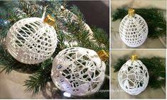 Hand haakwerk kerstballen voor uw kerstboom door Niezapominajkinet