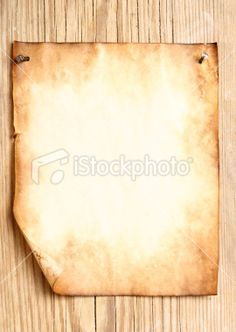 Old paper attached to wooden wall Royalty Free Stock Photo #8158296