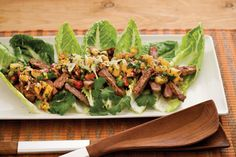 Serve Calypso Steak Salad on romaine lettuce leaves for an impressive (and nutritious) presentation. To make the salsa mixture ahead, just cover and chill up to 8 hours. Let stand at room temperature about 20 minutes, while steaks marinate in lime juice mixture.Recipe:Calypso Steak Salad