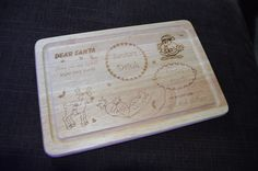"Kids ""Thanks Santa"" chopping board - Engraved and Signed"