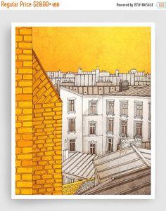20% OFF SALE: Paris illustration Sunny day in Paris by tubidu