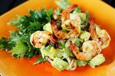 Avocado Mango Salad With Grilled Shrimp