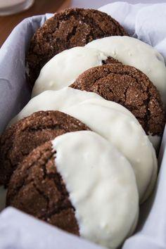 White Chocolate Dipped Ginger Cookies   Marsha's Baking Addiction