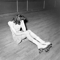 roller skating, 1940s, by Nina Leen