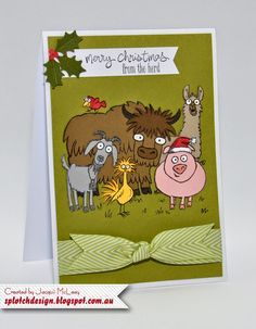 Splotch Design - Jacquii McLeay Independent Stampin' Up! Demonstrator: From the Herd Cards