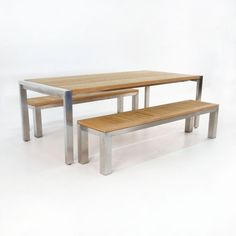 Plank Table Bench Set