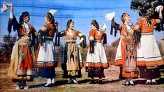Albania, Farm Life, Folklore, Greece, Dance, Costumes, Farming, Musicians, Painting