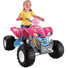 Christmas for Amaria???? I think this is a big maybe!  Fisher-Price Power Wheels Pink Barbie KFX 12-Volt Battery-Powered Ride-On