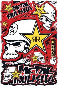 Metal Mulisha, Rockstar Energy Drinks, Rock Style, Rock Chic, Disney Phone Cases, Apple Coloring, Sticker Bomb, Backrounds, Monster Energy