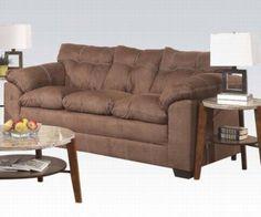 Acme Furniture - Lucille Velocity Microfiber Sofa in Espresso - 50365