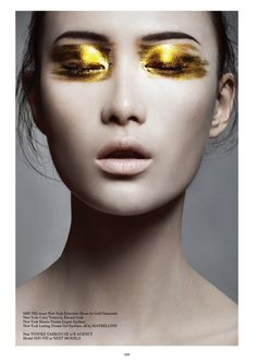 "STYLING Model Face <~> :: Golden Eyes - Model Shu Pei / Photography Bojana Tatarska / Hair Yusuke Taniguchi / Make-up Alice Ghendrih / ""Trust In Dreams"" - Glass Magazine, Issue Fall 2012 Beauty Make-up, Beauty Hacks, Hair Beauty, Natural Beauty, Natural Lips, Natural Makeup, Asian Beauty, Beauty Tips, Makeup Inspo"