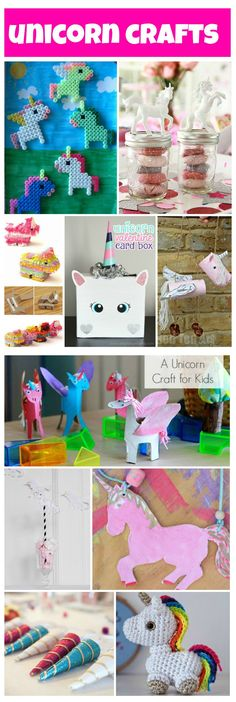 the ultimate unicorn crafts Collage
