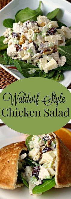 Waldorf Style Chicken Salad | Renee's Kitchen Adventures: Recipe for a great variation on ordinary chicken salad with apples, walnuts and dried cranberries