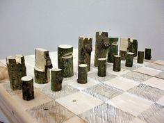 log-chess-set