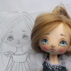 Art and doll style DIY inspiration. Please choose cruelty free vegan art and doll making supplies and materials Doll Face Paint, Doll Painting, Doll Sewing Patterns, Sewing Dolls, Child Doll, Baby Dolls, Diy And Crafts Sewing, Doll Eyes, Doll Tutorial