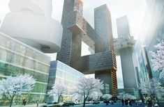 Really futuristic, like something from a sci-fi movie :) Danish architects BIG #skyscrapers for Seoul.