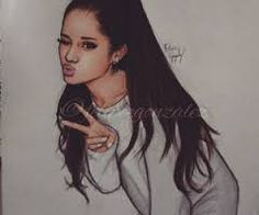 A difficuld draw of ariana grande Its Beautiful‼️ Maby you can try to draw this♥️