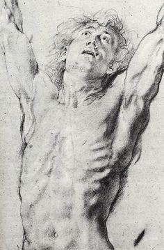 Drawing made ca 1623 by Peter Paul Rubens - Born: Jun 1577 · Siegen, Germany Died: May 1640 · Antwerp, Belgium Human Figure Drawing, Life Drawing, Drawing Sketches, Painting & Drawing, Art Drawings, Figure Drawings, Sketching, Peter Paul Rubens, Photos Corps