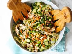 Low-Carb Asian Chopped Salad With Garlic-Ginger Chicken