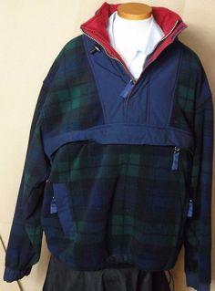 Tommy Hilfiger Men's Multi-Color Plaid Pullover 1/4 Zip Jacket Size Large #TommyHilfiger #FleeceJacket
