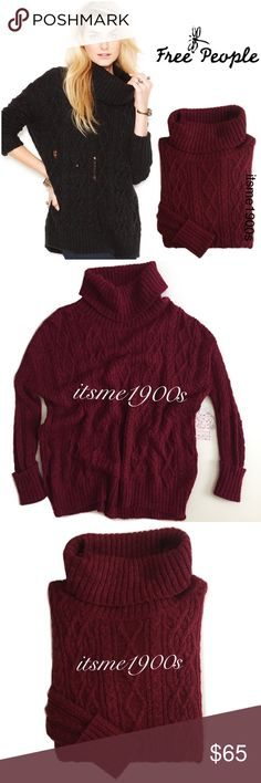 """New Free People Cowl Neck Sweater 💄New With Tags 💄Retail Price $128 + Tax 💄Chunky cable knitting punctuated with rips for a distressed look. 💄Rib-trimmed cowl-neck pullover. 💄25"""" front length; 27"""" back length. 💄41% acrylic, 33% nylon, 20% wool, 6% alpaca. Free People Sweaters"""