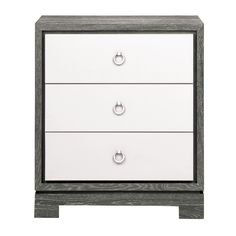 Berkeley Small Side Table in Grey & White design by Bungalow 5 - Deco & Bloom Bungalow 5, Side Table, Oak Side Table, White Accent Table, Small Side Table, White Side Tables, Rosenberry Rooms, Cerused Oak, End Tables