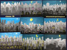 immagin@rti: Skyline City Group project: each student is responsible for a layer to the piece.