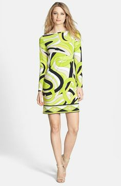 MICHAEL Michael Kors 'Marquee' Boatneck Dress (Regular & Petite) available at #Nordstrom