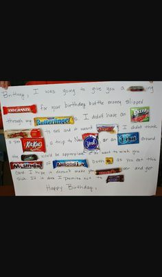 Candy Birthday Card for Daddy Bc Pinterest