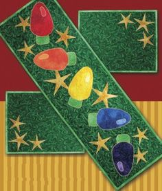Christmas Applique Table Runner and Placemat.Applique Table Runner and Placemat. Christmas Placemats, Christmas Runner, Christmas Applique, Christmas Sewing, Christmas Projects, Holiday Crafts, Christmas Quilting, Christmas Table Runners, Christmas Patterns