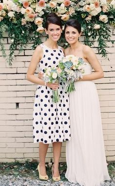I love the polka-dot bridesmaid dress!