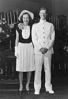 1946 wedding of Rosalynn Smith and Jimmy Carter. (Went on to become a President).