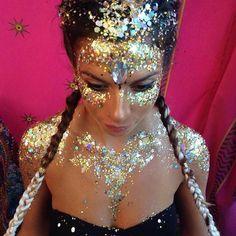 Festival face and body glitter