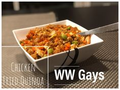 One of our favourite Chinese take-out is Chicken Fried Rice, we of course creates an alternative! Fried Quinoa, Fried Rice, Chinese Dishes Recipes, Weight Watchers Meals, Oven Baked, Chinese Food, Chana Masala, Fried Chicken, Food Dishes