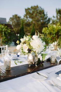 Modern Romantic California Wedding - wedding centerpieces; Shane and Lauren Photography