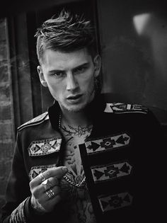 Machine Gun Kelly Poses for LUomo Vogue Shoot