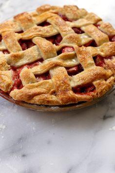 Strawberry Lattice Pie